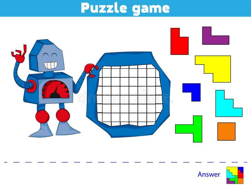 Jogo do enigma completo o teste padrão Jogo da lógica da educação para crianças prées-escolar Ilustração do vetor ilustração do vetor
