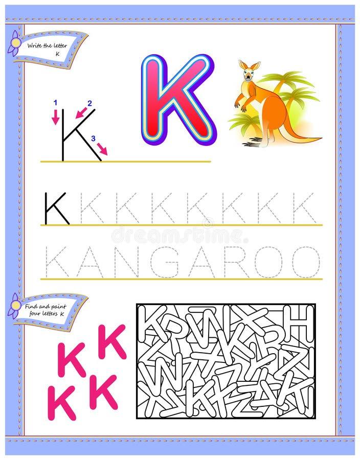 Jogo do enigma da lógica Habilidades tornando-se das crianças para escrever e ler ilustração stock