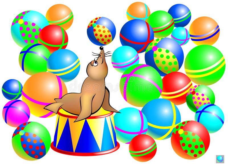 Jogo do enigma da lógica para crianças e adultos Necessidade de encontrar duas bolas idênticas ilustração royalty free