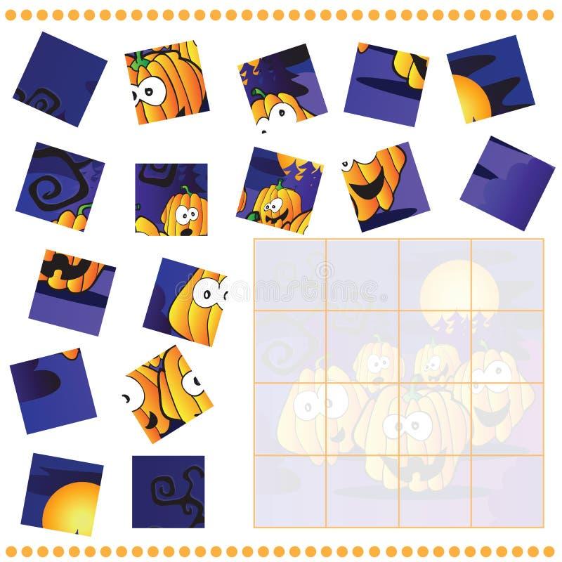 Jogo do enigma de serra de vaivém para crianças ilustração stock