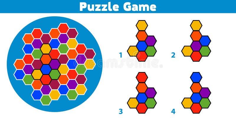 Jogo do enigma Termine o jogo da lógica da educação do teste padrão para crianças prées-escolar Ilustração do vetor ilustração royalty free