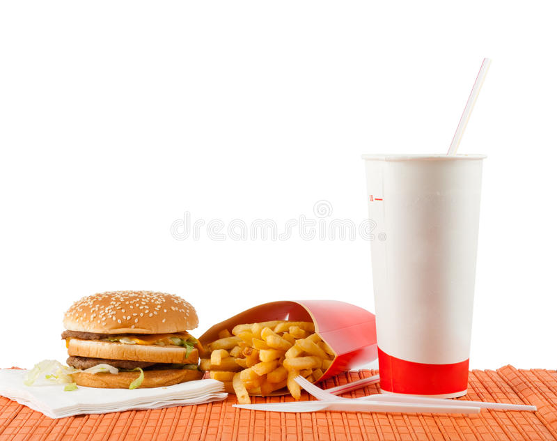 Jogo do fast food foto de stock