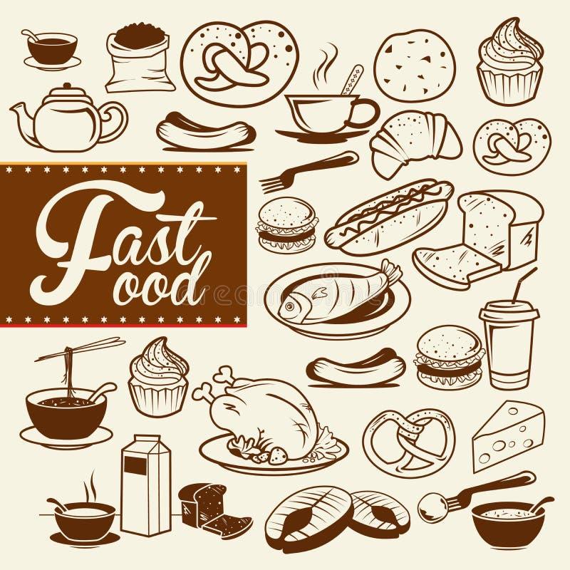 Jogo do fast food foto de stock royalty free