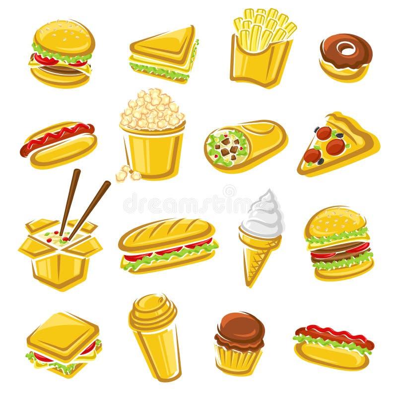 Jogo do fast food Vetor ilustração royalty free