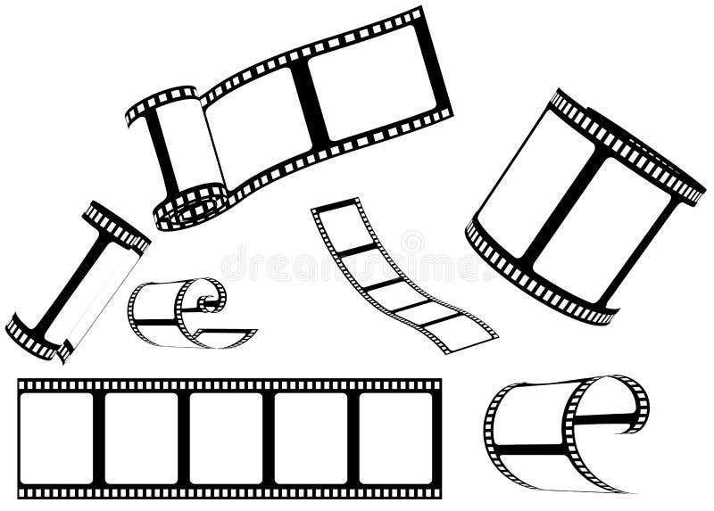 Jogo do filme/película da foto ilustração do vetor