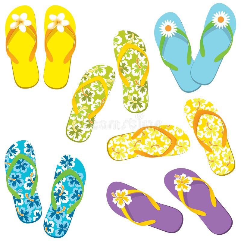 Jogo do flip-flop ilustração royalty free