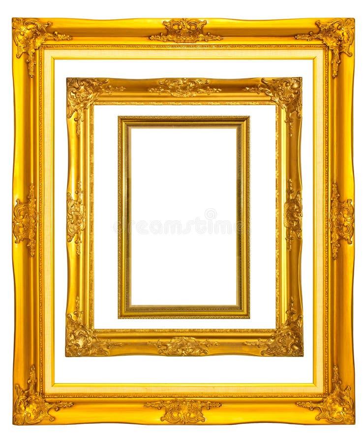 Jogo do frame da foto do vintage fotografia de stock royalty free