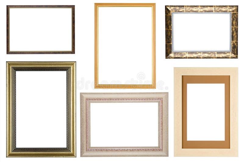 Jogo do frame de retrato no branco imagens de stock royalty free