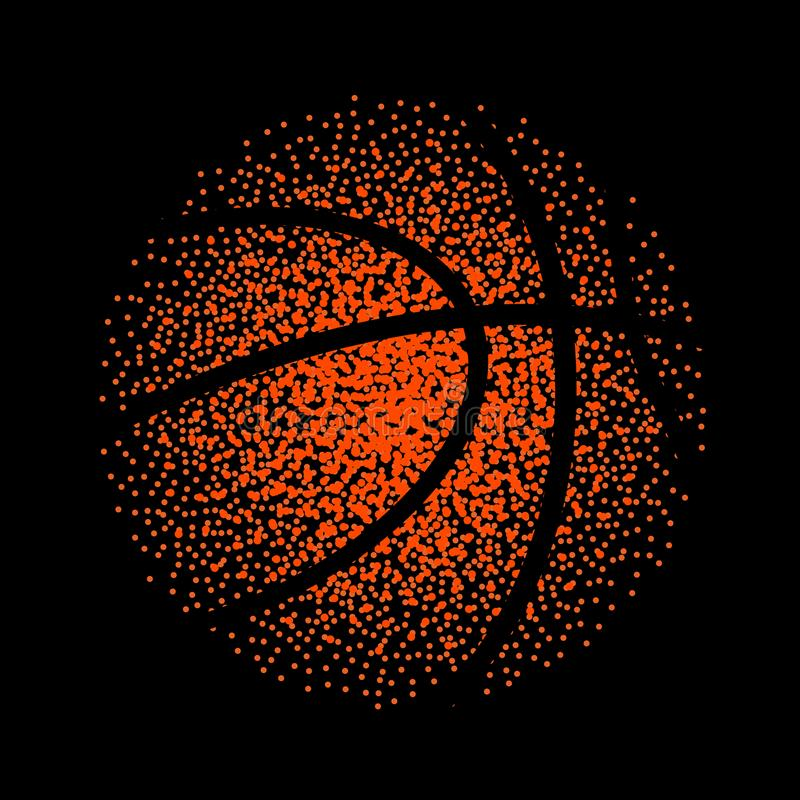 Jogo do fundo da tecnologia do vetor do basquetebol A cesta pontilha a atividade do elemento da bola ilustração royalty free