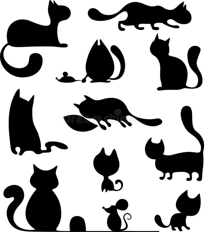 Jogo do gato ilustração stock
