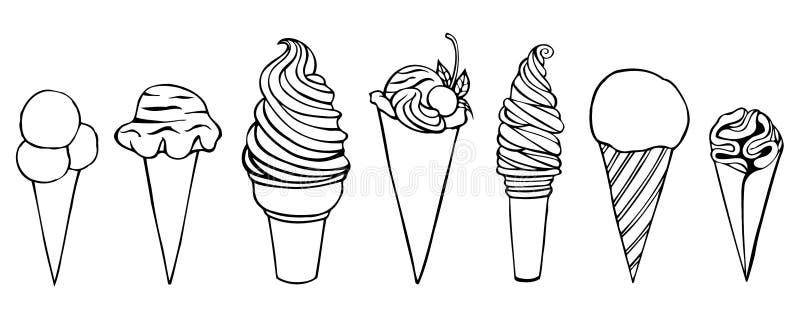 Jogo do gelado ilustração do vetor