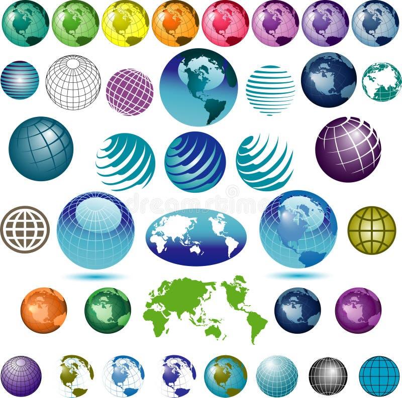 Jogo do globo colorido   ilustração stock