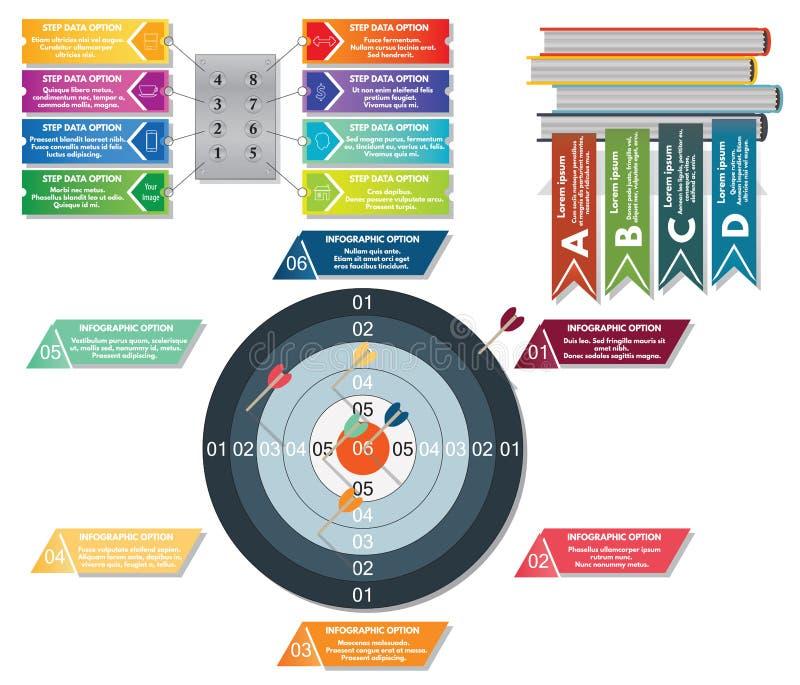 Jogo do infographics do vetor ilustração do vetor