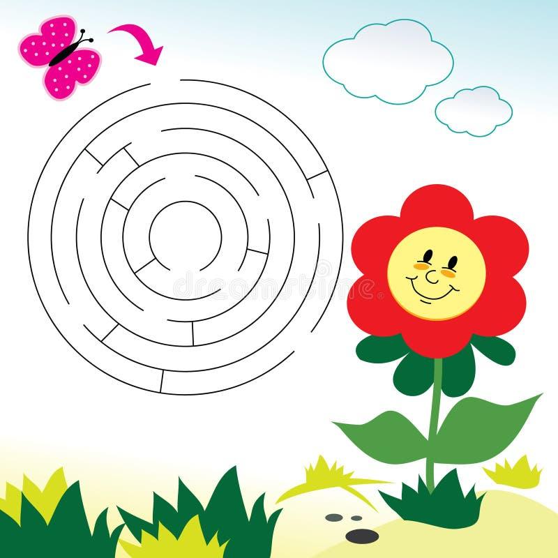 Jogo do labirinto ilustração royalty free