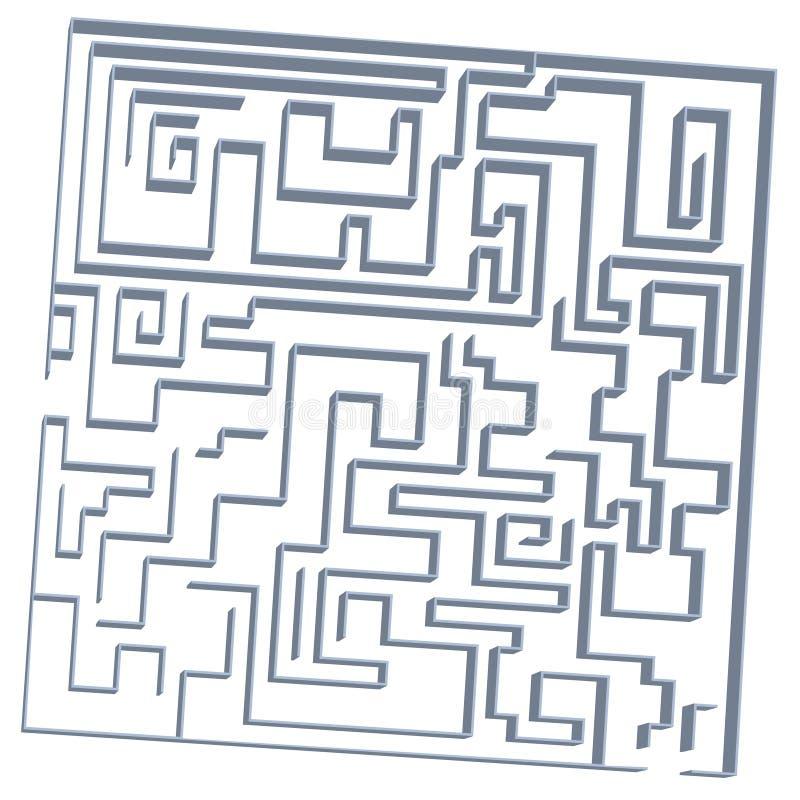 jogo do labirinto 3D ilustração royalty free