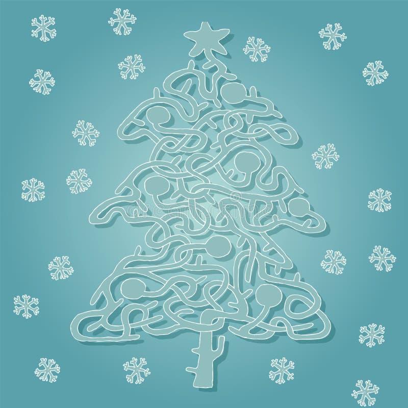 Download Jogo Do Labirinto Da Forma Da árvore De Natal Ilustração do Vetor - Ilustração de entertainment, snowflakes: 29842559