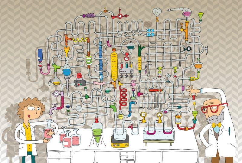 Jogo do labirinto do laboratório ilustração royalty free