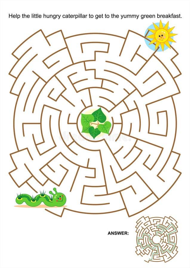 Jogo do labirinto para crianças ilustração do vetor