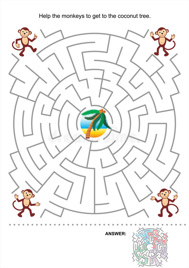 Jogo do labirinto para miúdos ilustração stock