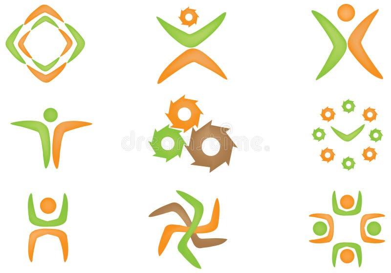 Jogo do logotipo ilustração stock