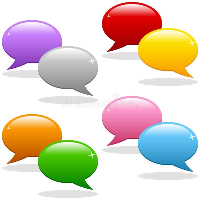 Download Jogo Do Logotipo Das Bolhas Do Discurso Ilustração do Vetor - Ilustração de ícones, comunidade: 26524728