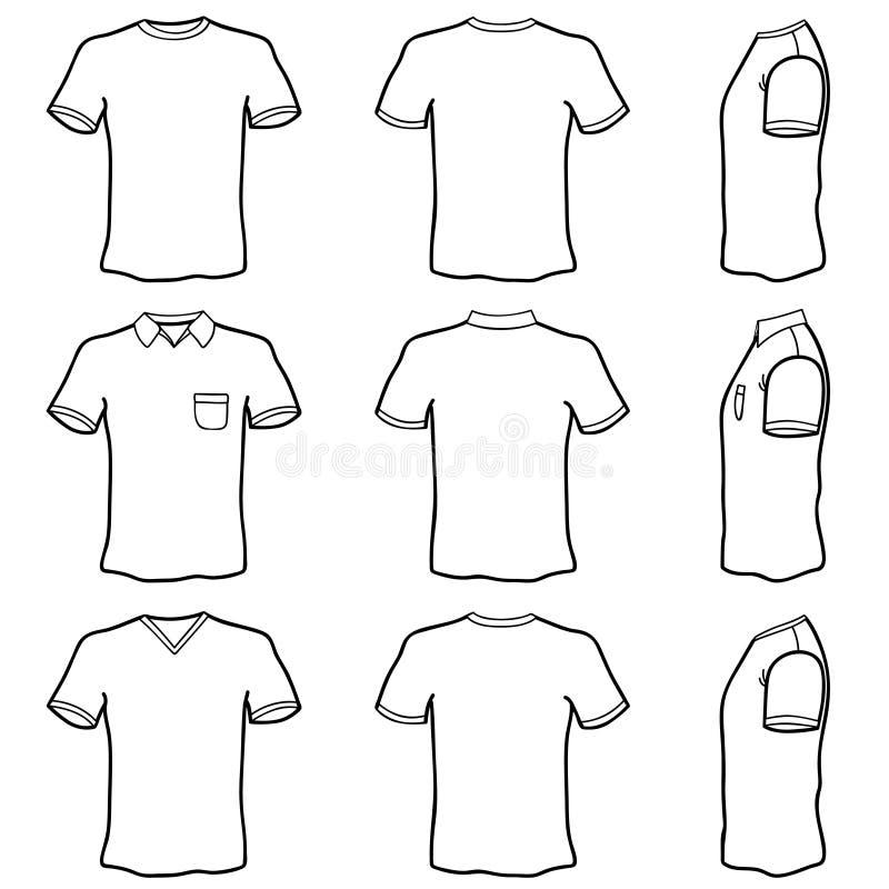 Jogo do molde da camisa de T ilustração royalty free