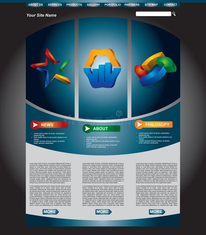 Jogo do molde do Web page do negócio ilustração royalty free