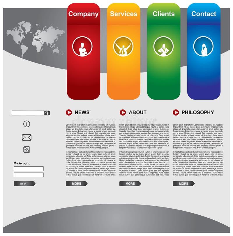 Jogo do molde do Web page do negócio ilustração stock