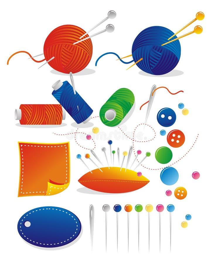 Jogo do Needlework ilustração stock