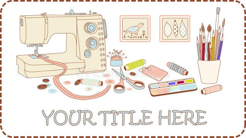 Jogo do ofício e do needlework ilustração royalty free