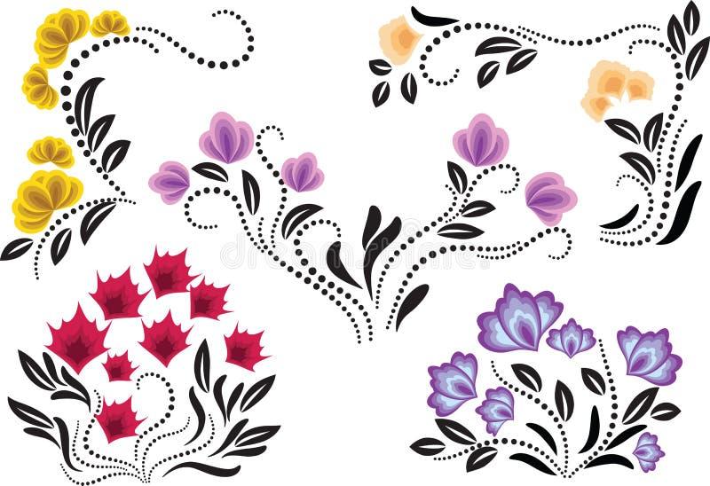 Jogo do ornamento decorativo ilustração do vetor