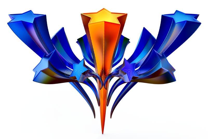 Jogo do ouro onze brilhante e de estrelas azuis no movimento ilustração royalty free