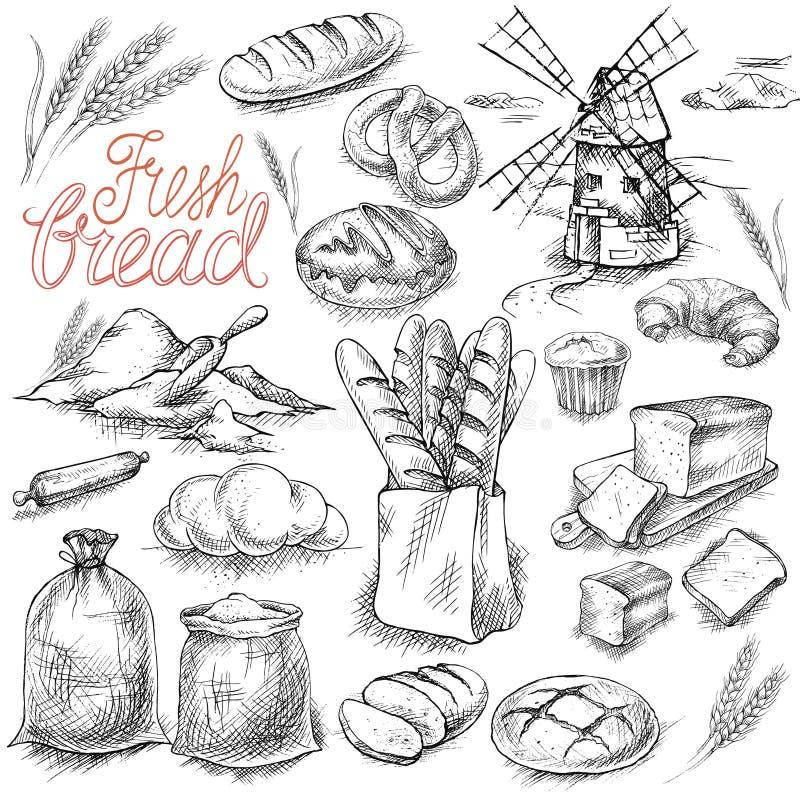 Jogo do pão fresco ilustração do vetor