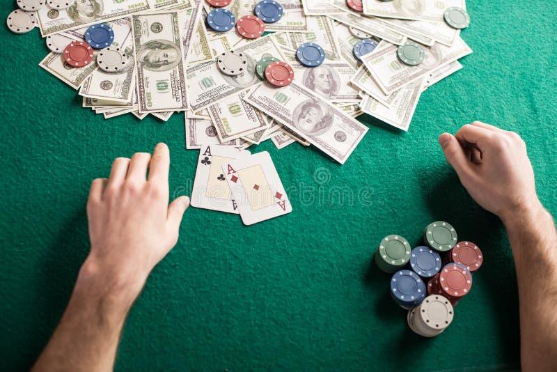 Jogo do póquer fotografia de stock
