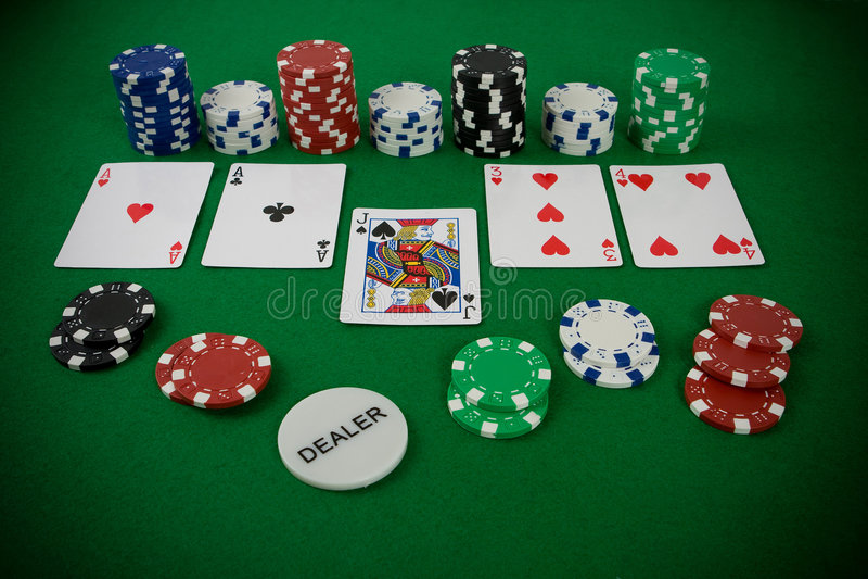 Jogo do póquer foto de stock