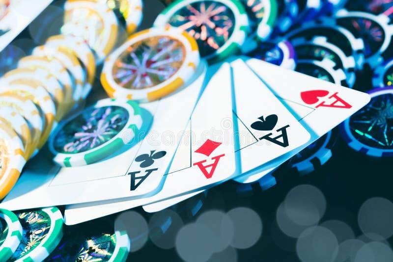 Jogo do pôquer foto de stock