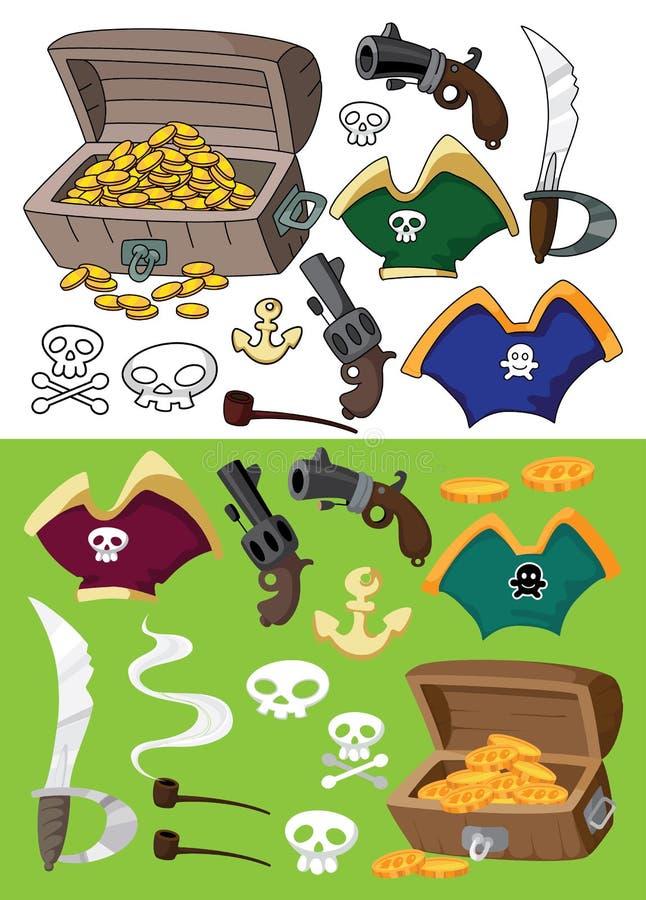 Jogo do pirata ilustração stock
