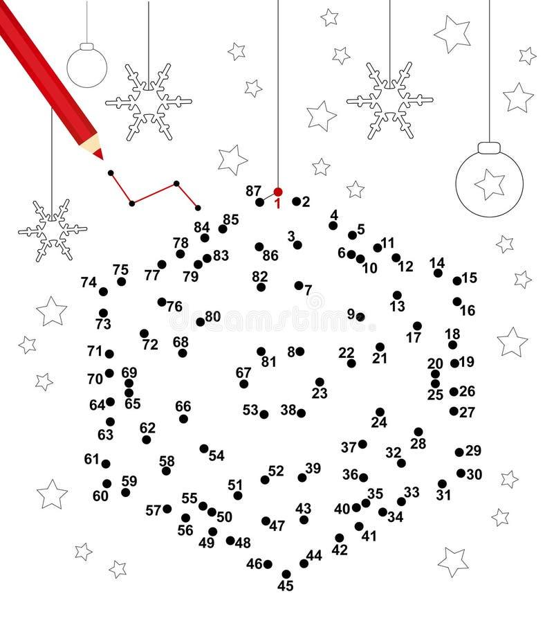 Jogo do ponto do Natal ilustração royalty free