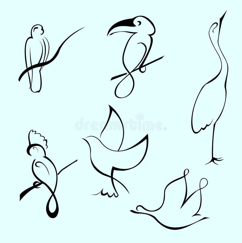 Jogo do projeto do pássaro ilustração do vetor