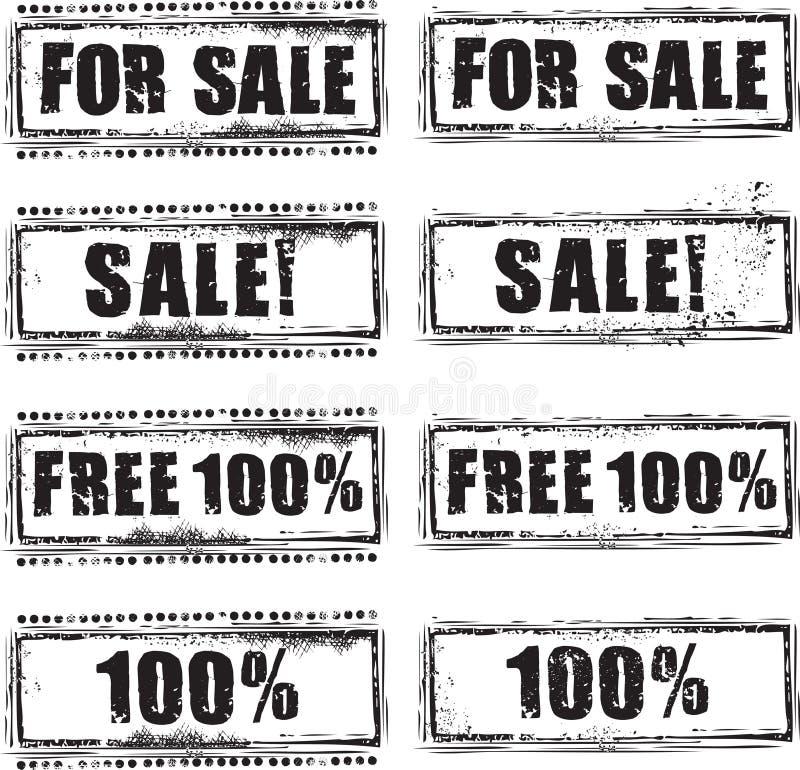 Jogo do selo da venda ilustração do vetor