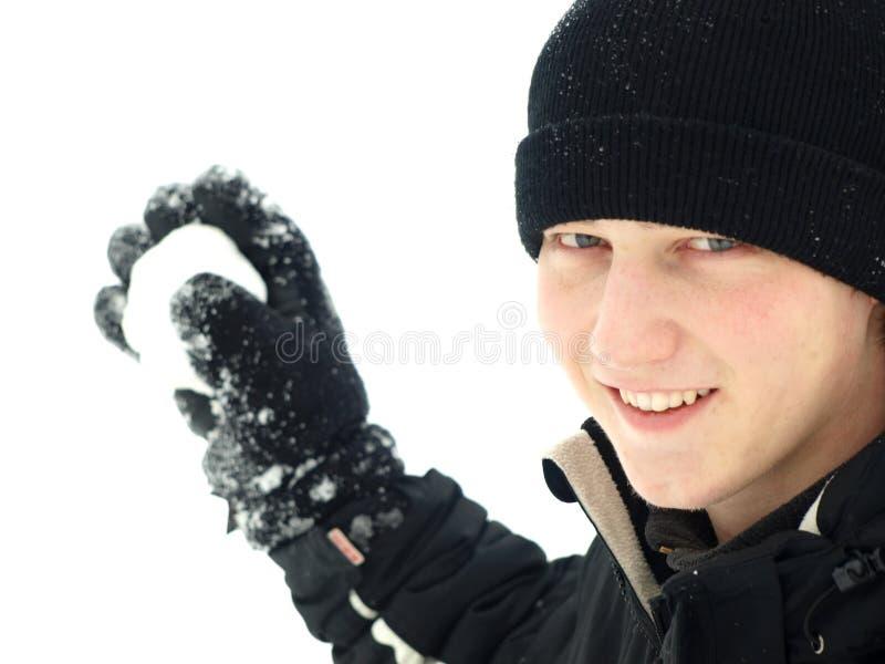 Jogo do Snowball foto de stock royalty free