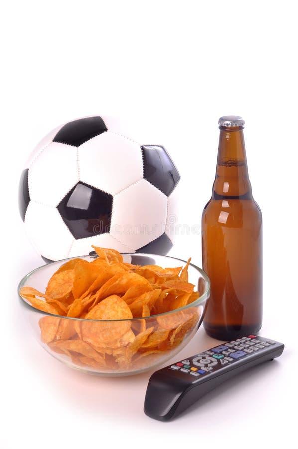 jogo do suporte do futebol fotografia de stock