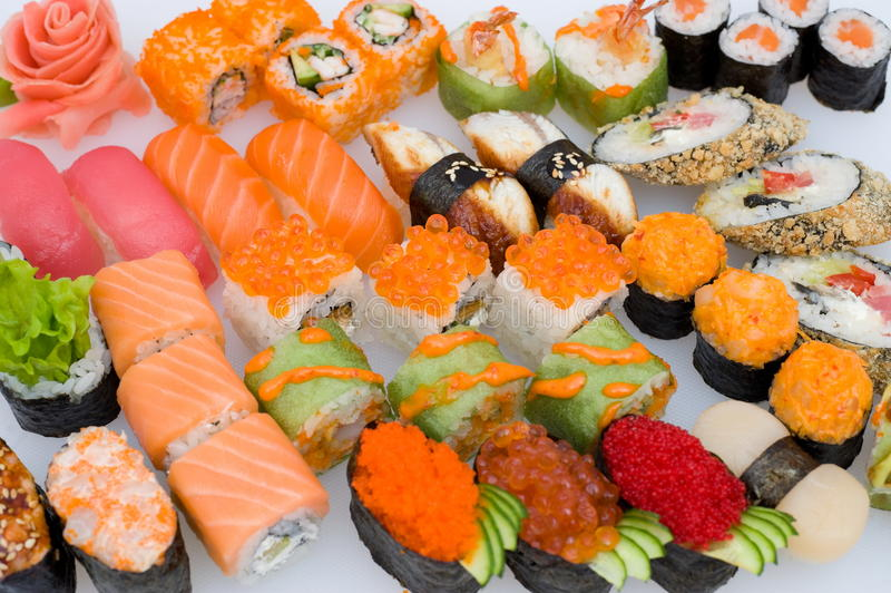 Jogo do sushi imagem de stock