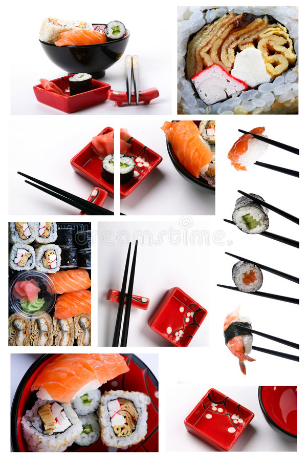Jogo do sushi fotos de stock royalty free