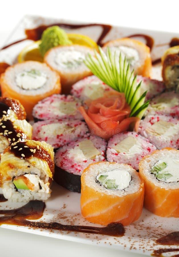 Jogo do sushi de Maki fotografia de stock