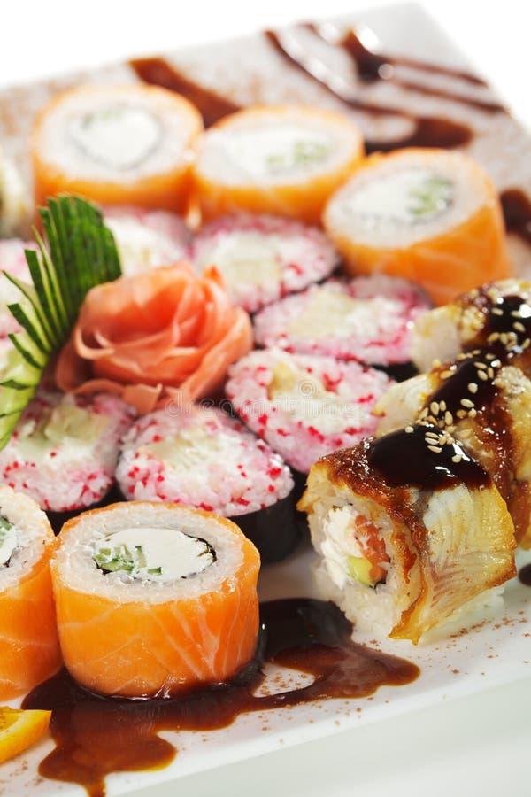 Jogo do sushi de Maki foto de stock