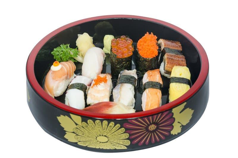 Jogo do sushi de Nigiri imagem de stock