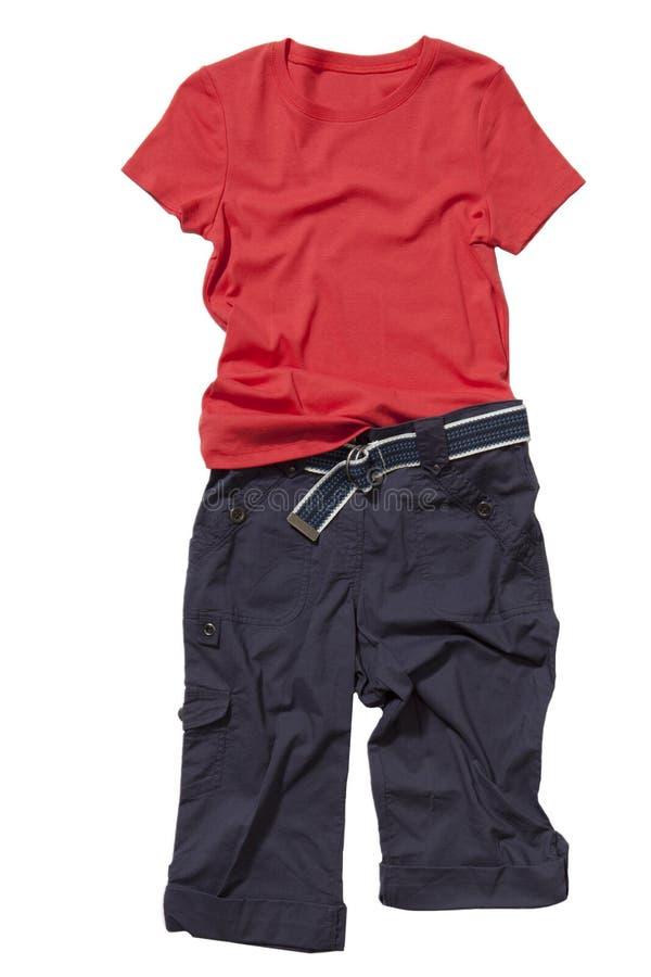 Jogo do t-shirt e dos shorts   imagens de stock