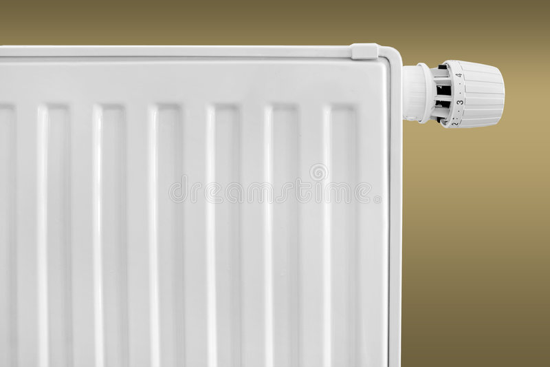 Jogo do termostato do radiador fotografia de stock
