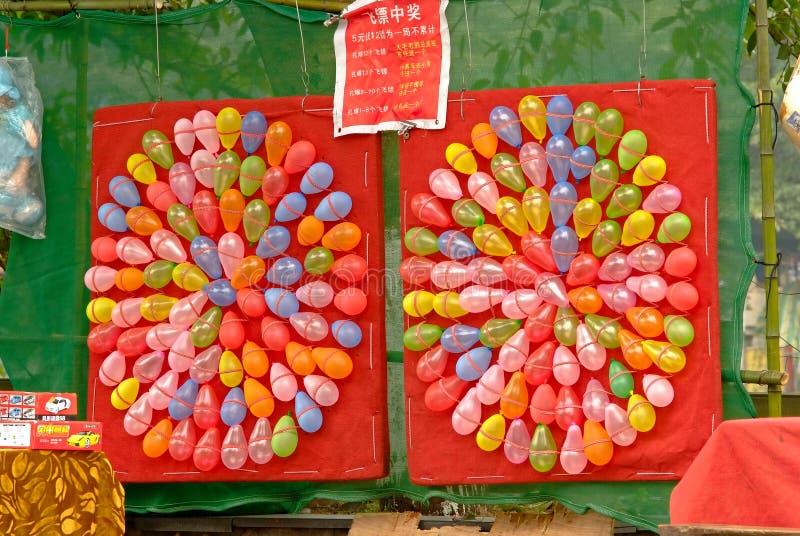 Jogo do tiro do China-balão de Yaan foto de stock royalty free